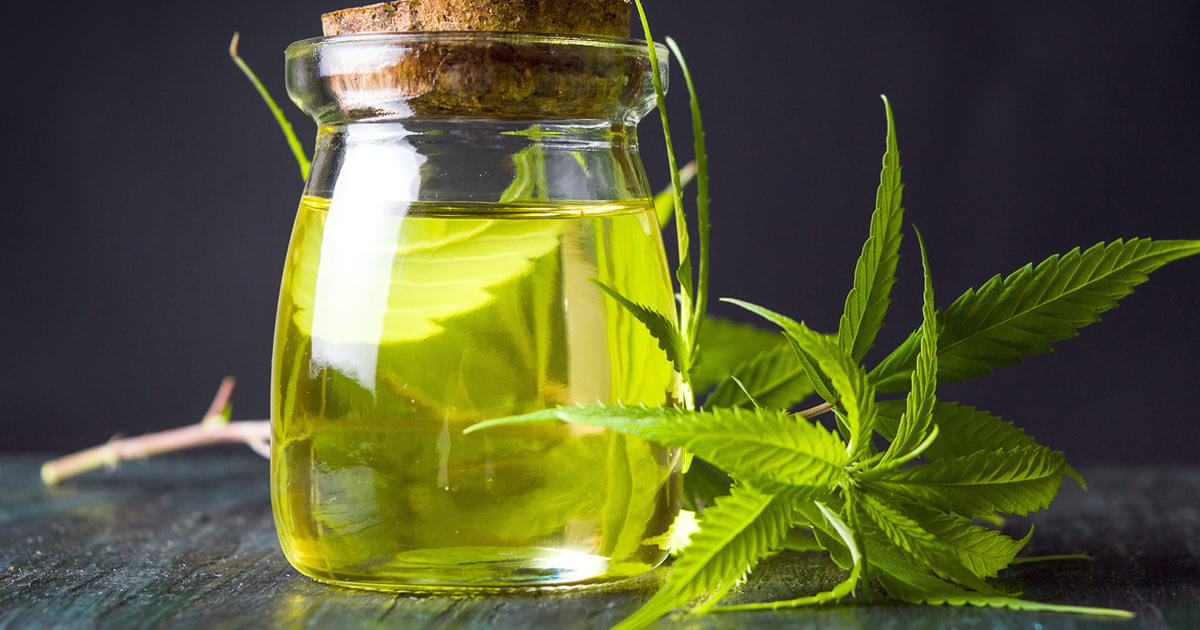 A bottle of hemp oil for inflammation