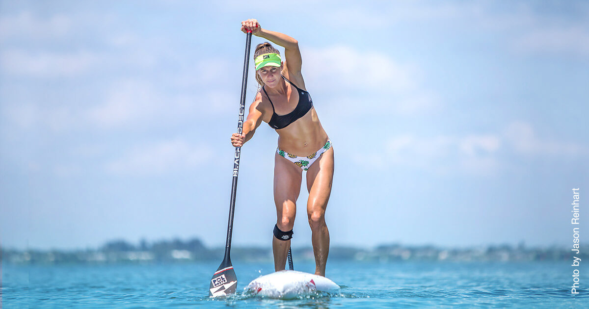 Champion Paddleboarder Seychelle Webster
